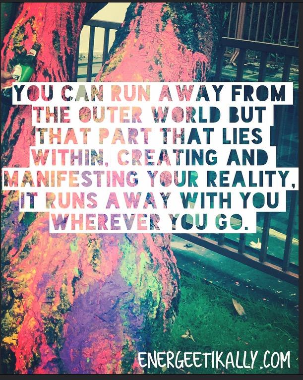 run away from the world